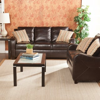 Upton Home Claymore Chocolate Sofa/ Loveseat Set