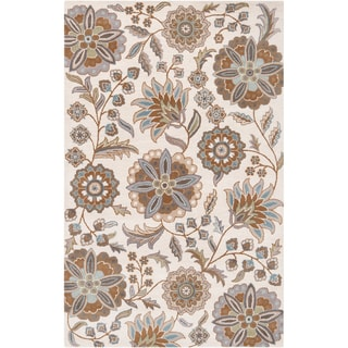 Hand-tufted Tuleta Tan Wool Rug