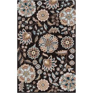 Hand-tufted Ukiah Black Wool Rug