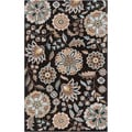 Hand-tufted Ukiah Black Wool Rug