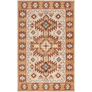 Hand-tufted Southwestern Aztec Waelder Wool Rug