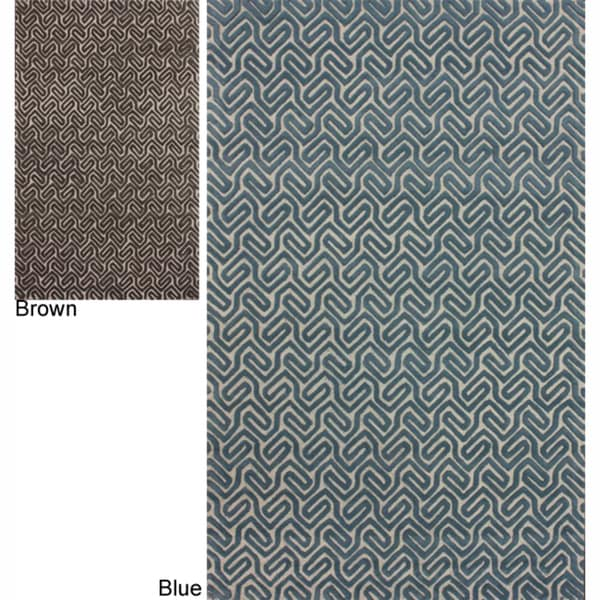 nuLOOM Handmade Modern Abstract Wool Rug