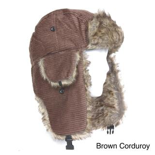 Solegear Women's Corduroy Winter Trapper Hat