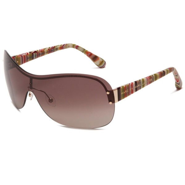 Marc by Marc Jacobs Women's Gold Multi-color Shield Sunglasses