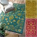 nuLOOM Handmade Overdyed Floral Wool Rug