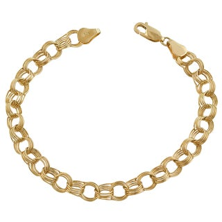 Fremada 14k Yellow Gold Charm Bracelet