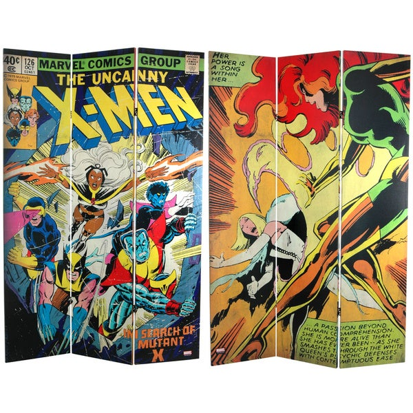 6-Foot Tall Double Sided The Uncanny X-Men Room Canvas Divider