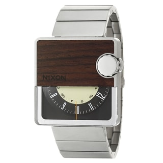 Nixon Men's Stainless Steel and Wood 'Murf' Rotolog Watch
