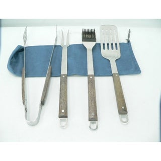 BBQ Grilling 4-piece Utensil Set with Storage Bag