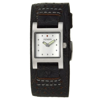 Nixon Women's Stainless-Steel 'Lizzie' Watch with Black Leather Strap