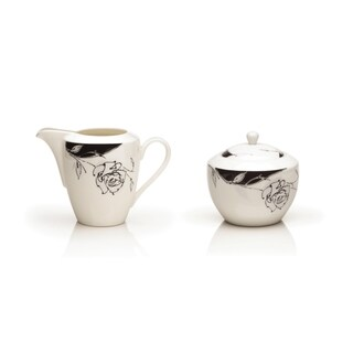 Mikasa Urban Rose 6-Ounce Sugar-Creamer Dish (Set of 2)
