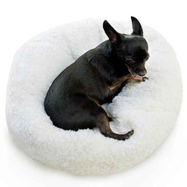Sweet Dreams Small Sherpa Pet Bed