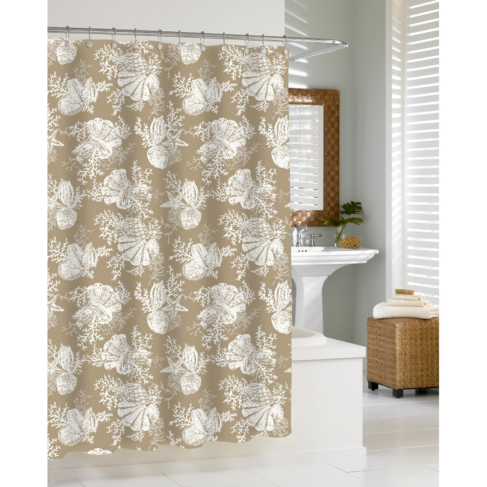 Coastal Seashells Sand Shower Curtain at Sears.com