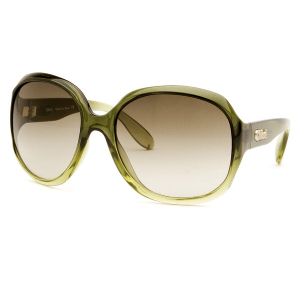 Chloe Women's Green Fashion Sunglasses