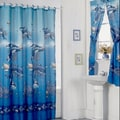 Aquarium Blue Shower Curtain Set and 4-piece Window Set