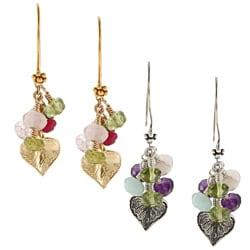 Charming Life Vermeil Gemstones and Leaf Earrings