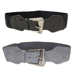 Ladies Basics Women's Contoured Elastic High Waist Stretch Belt