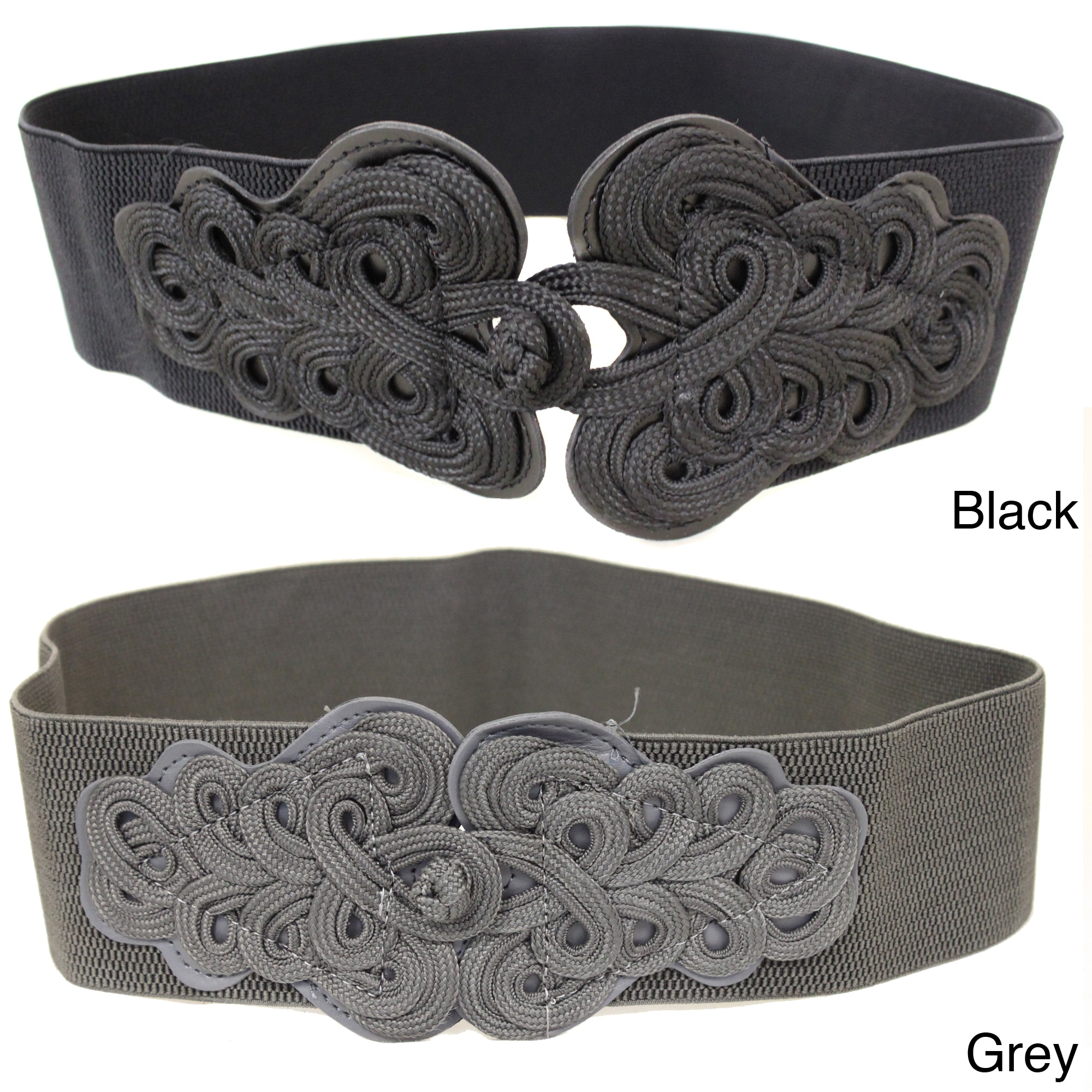 Women's Scrolling Buckle Contoured Elastic High Waist Stretch Belt at Sears.com