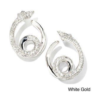 Sonia Bitton 18k Gold 1 1/5ct TDW Designer Diamond Swirl Earrings (G-H, SI1-SI2)