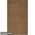 Hand-woven Casual Solid Colored Alpson Wool Rug