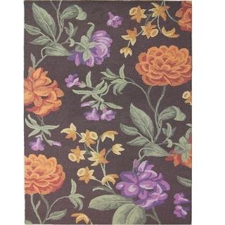 Safavieh Handmade Blossom Black Wool Rug