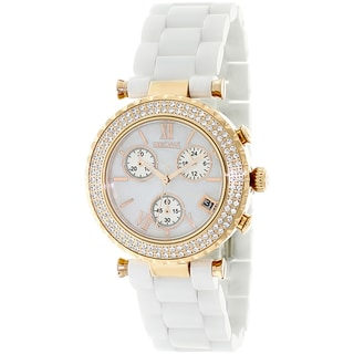 Precimax Women's White Ceramic 'Lily Elite' Watch