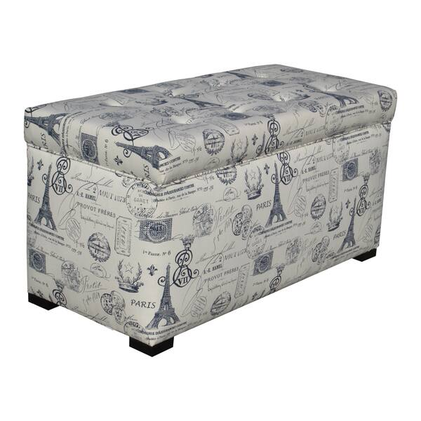 Sole Designs Angela Paris Match Blue Storage Trunk