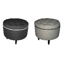 Rose Nine Button Decorative Ottoman