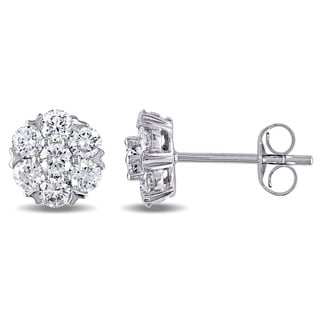 Miadora 14k White Gold 1ct TDW Diamond Stud Earrings (G-H, SI1-SI2)