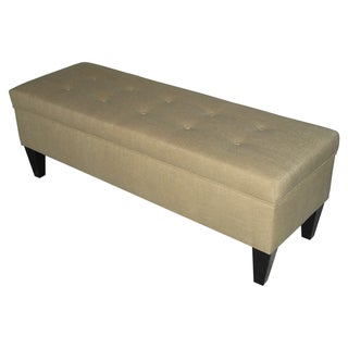 Brooke Tufted Loft Sand Storage Bench