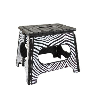 Three to Tango Zebra Folding Step Stool
