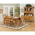 Intercon Cambridge Solid Oak Slat-back Rustic Side Chairs (Set of 2)