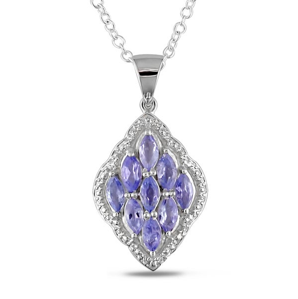 Miadora Sterling Silver Tanzanite Necklace