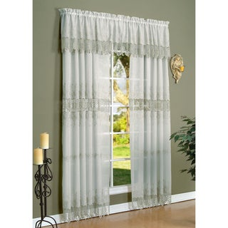 Annamaria Macrame 4-piece 84 in. Panel & Valance Set
