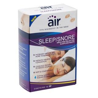 Air Sleep/Snore Drug-free Nasal Breathing Aid (Pack of 12)