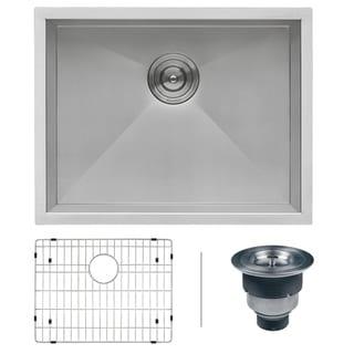 Ruvati RVH7100 Undermount 16 Gauge 23-inch Single Bowl Kitchen Sink
