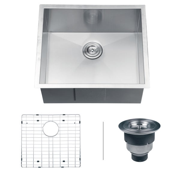 Ruvati RVH7100 Undermount 16 Gauge 23-inch Single Bowl Kitchen Sink