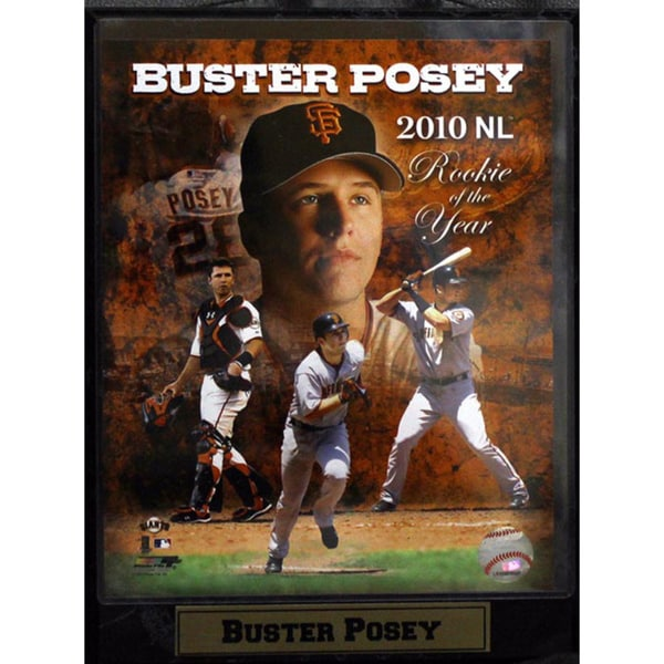 Buster Posey 2010 Rookie of the Year 9x12-inch Composite Photo Plaque