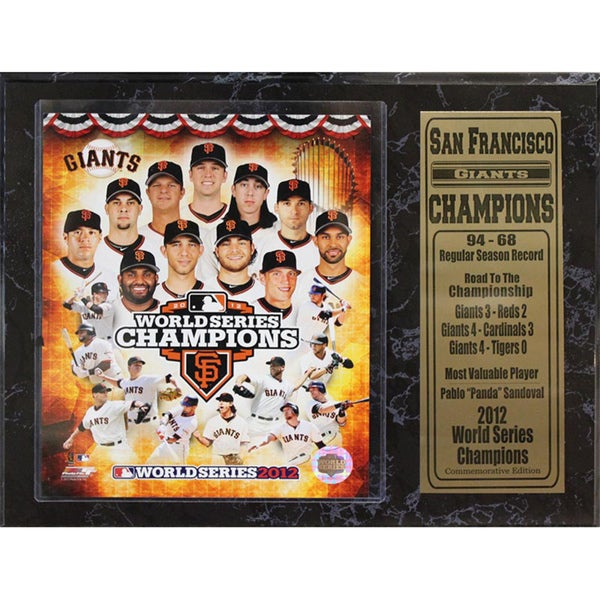 2012 World Series Champion San Francisco Giants 12x15-inch Plaque