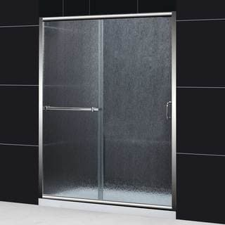 DreamLine Infinity Plus 56-60x72 Rain Glass Sliding Shower Door
