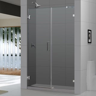 DreamLine Radiance Frameless Shower Door 53-56x72-inch. Not adjustable