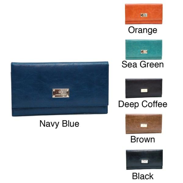 Anais Gvani Women's Classic Genuine Leather Tri-Fold Wallet