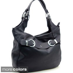 Dasein Buckle Accented Hobo Bag