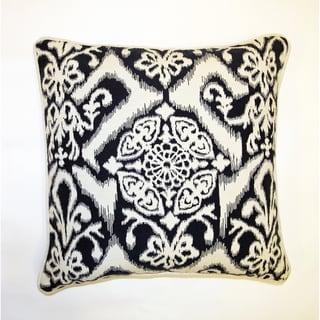 Jar Designs 'Ikat Indigo' Down and Feather Filled Throw Pillow