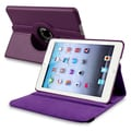 BasAcc Purple Leather Swivel Case for Apple iPad Mini 1/ 2 Retina Display