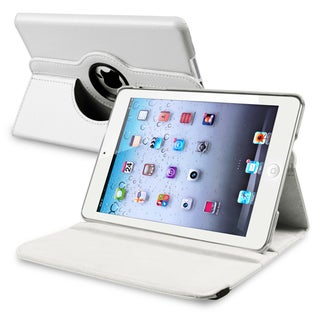 INSTEN White Leather Swivel Tablet Case Cover for Apple iPad Mini 1/ 2 Retina Display