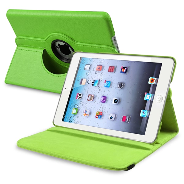 INSTEN Green Leather Swivel Tablet Case Cover for Apple iPad Mini 1/ 2 Retina Display