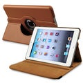 BasAcc Brown Leather Swivel Case for Apple iPad Mini