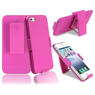 BasAcc Hot Pink Swivel Holster with Stand for Apple iPhone 5