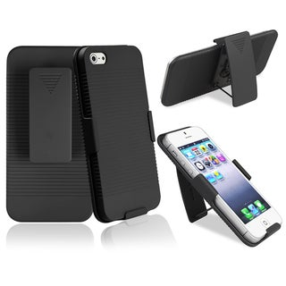 BasAcc Black Swivel Holster with Stand for Apple iPhone 5